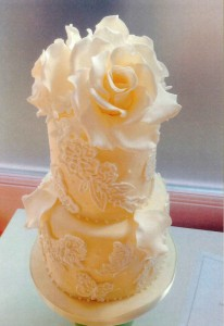Couture Lace Wedding Cake